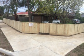 1.2H Capped front fence