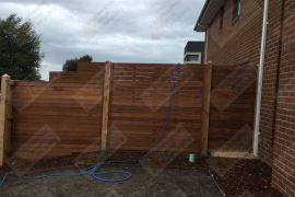 Merbau block off with gate