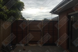 Merbau gate rear