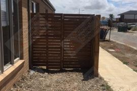 Merbau gate with block off 10mm spacings