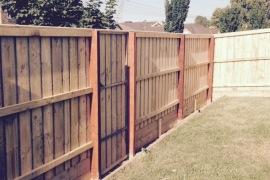 2.1m Fence with inbuilt gate Capped(Rails)