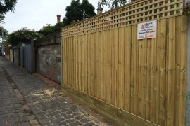 2.5m Timber fence with lattice and double sleeper