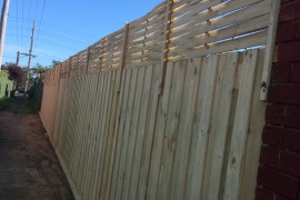 Standard fence with extensions